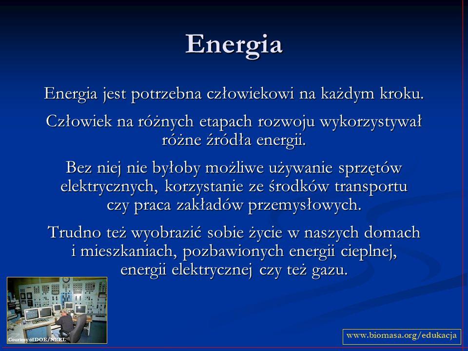 Energia Energia jest potrzebna człowiekowi na każdym kroku. Człowiek na różnych etapach rozwoju wykorzystywał różne źródła energii. Bez niej nie byłob