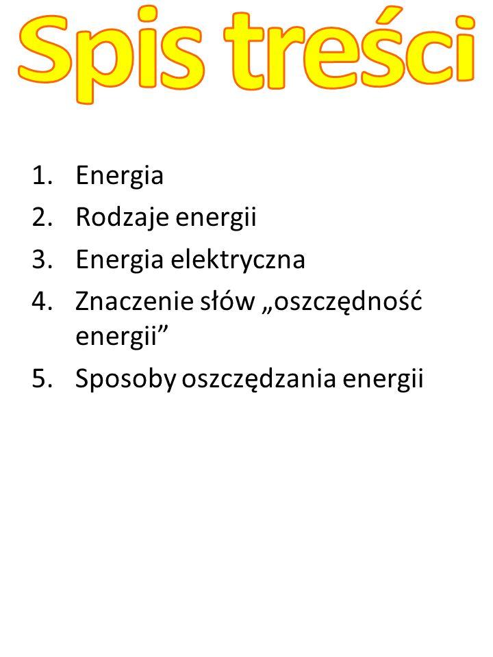 Energia ma wiele pojęć.