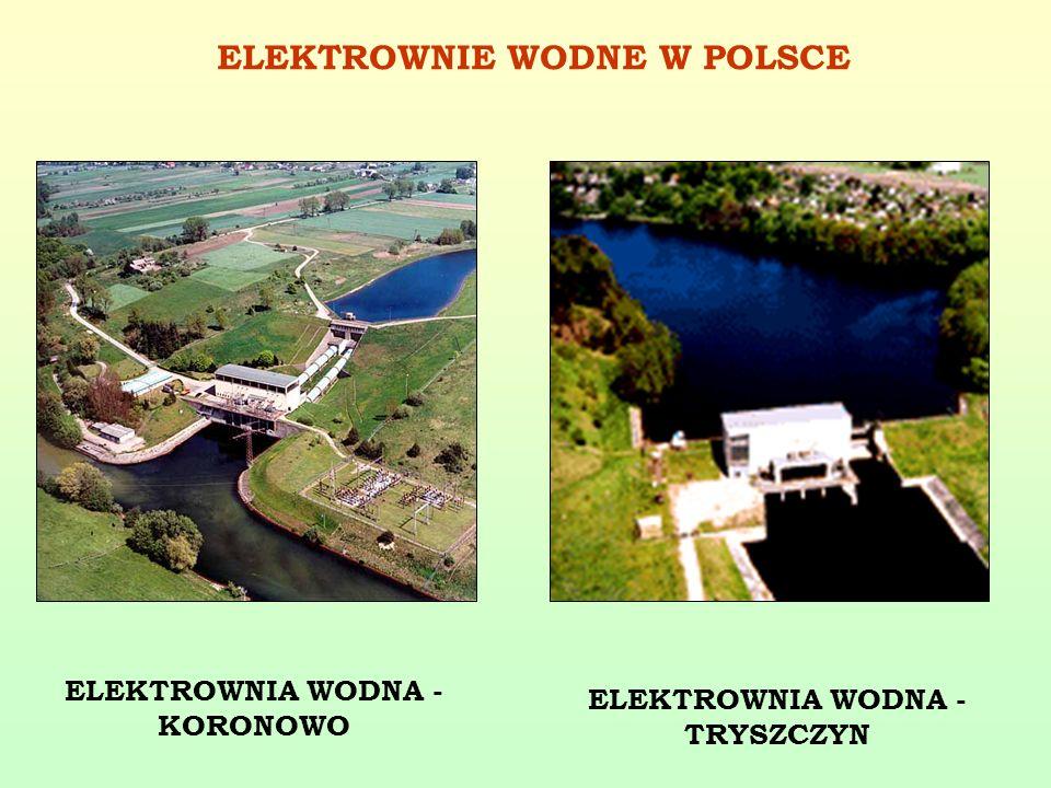ELEKTROWNIA WODNA - KORONOWO ELEKTROWNIA WODNA - TRYSZCZYN ELEKTROWNIE WODNE W POLSCE