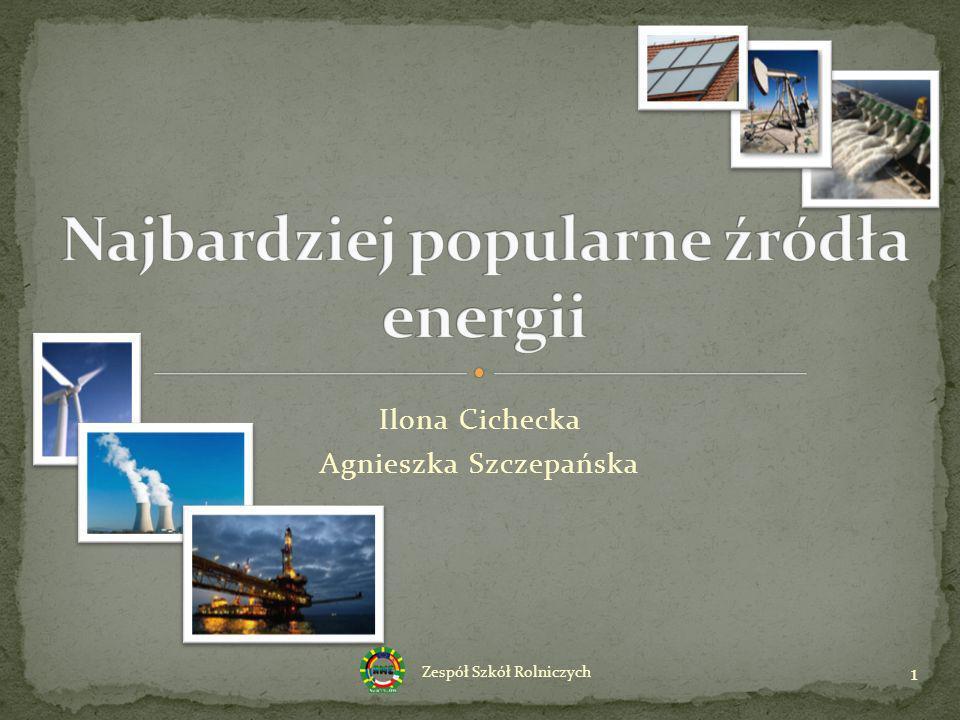 Ilona Cichecka Agnieszka Szczepańska 1 Zespół Szkół Rolniczych