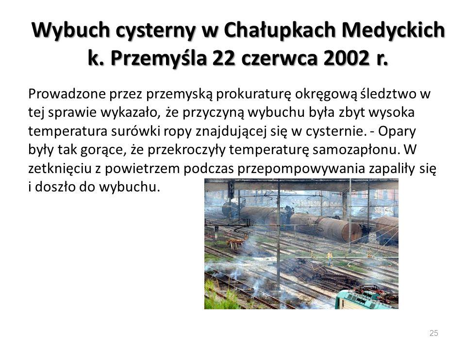 Wybuch cysterny w Chałupkach Medyckich k.Przemyśla 22 czerwca 2002 r.