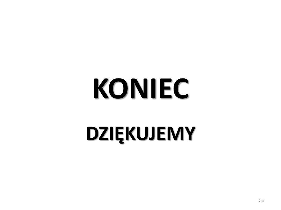 KONIEC DZIĘKUJEMY 36