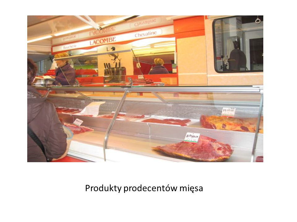 Produkty prodecentów mięsa