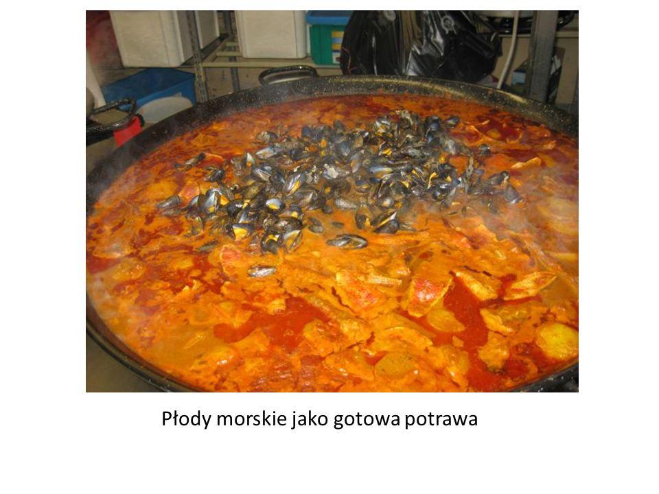 Płody morskie jako gotowa potrawa