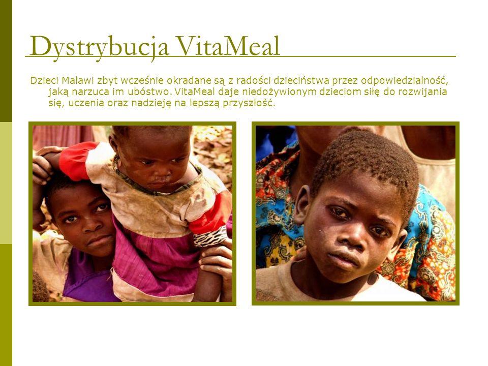 Dzieci Malawi zbyt wcześnie okradane są z radości dzieciństwa przez odpowiedzialność, jaką narzuca im ubóstwo. VitaMeal daje niedożywionym dzieciom si