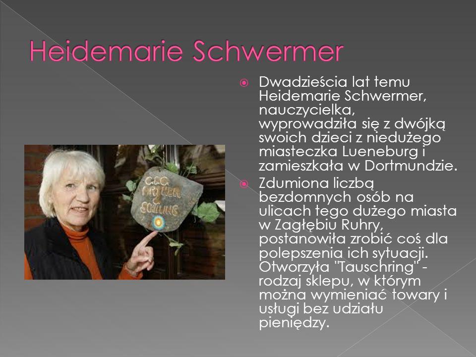 Dwadzieścia lat temu Heidemarie Schwermer, nauczycielka, wyprowadziła się z dwójką swoich dzieci z niedużego miasteczka Lueneburg i zamieszkała w Dortmundzie.