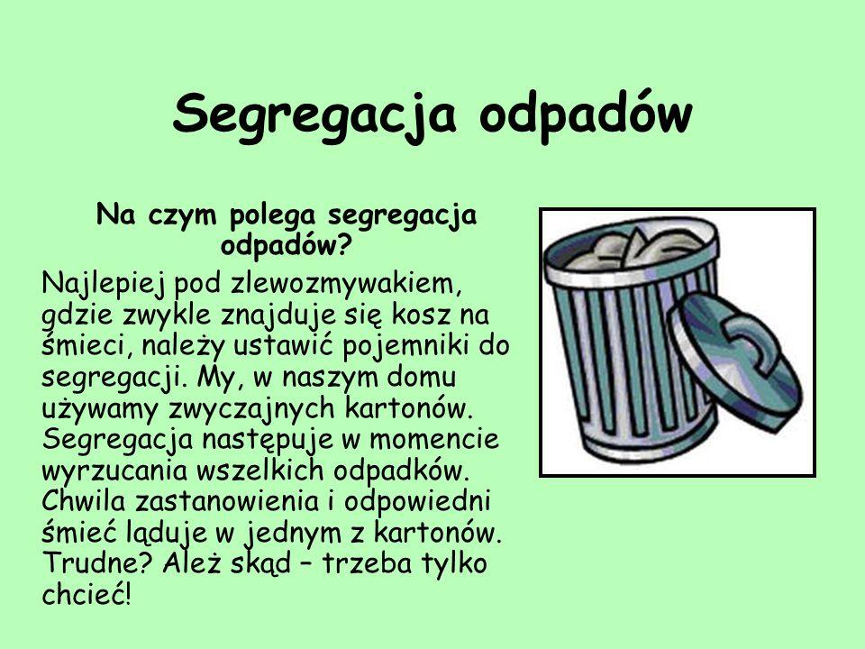 Pojemniki do segregacji odpadów są w różnych kolorach: