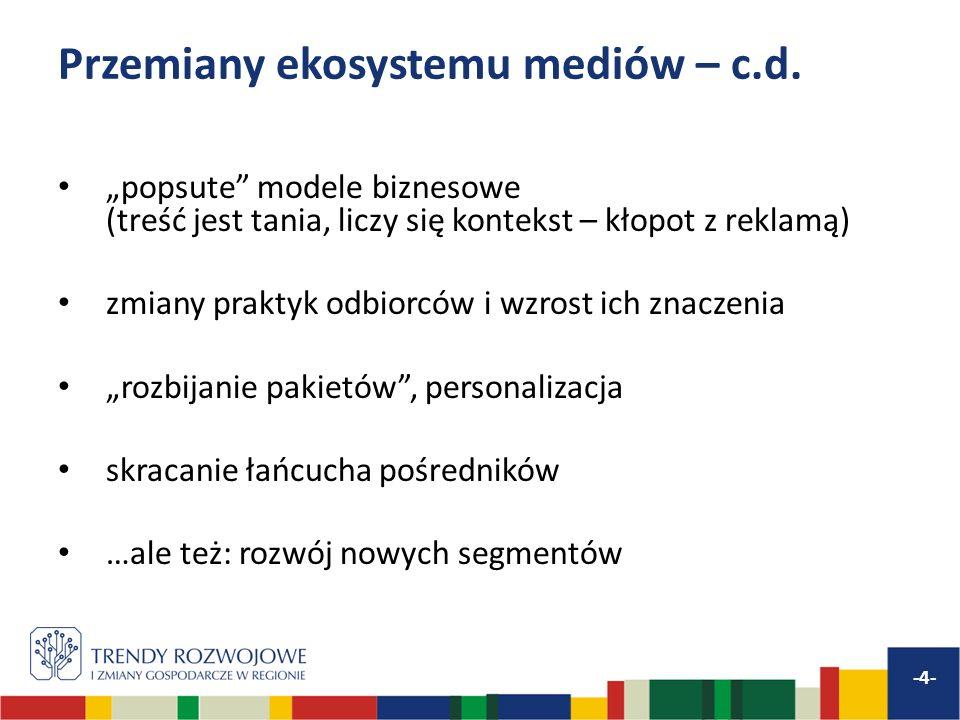 Przemiany ekosystemu mediów – c.d.