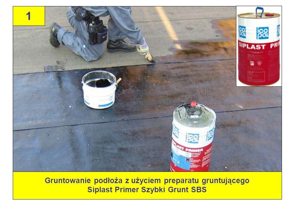 Gruntowanie podłoża z użyciem preparatu gruntującego Siplast Primer Szybki Grunt SBS 1