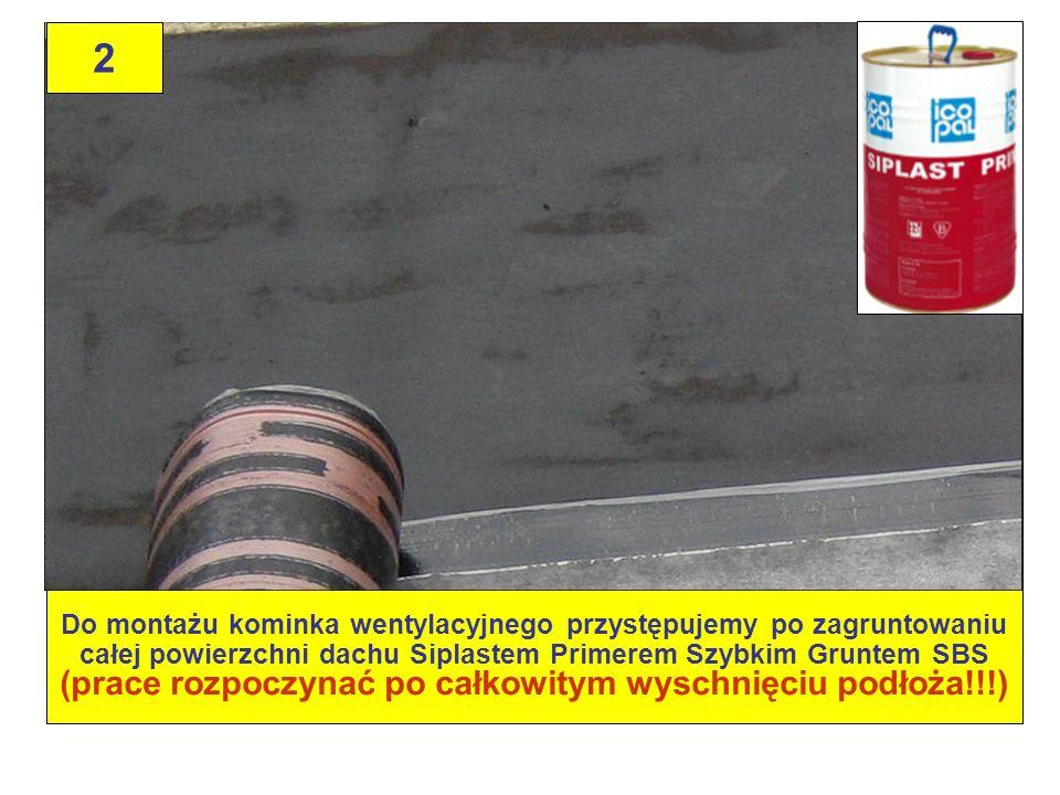 23 Wyznaczenie miejsca ustawienia kominka, poprzez swobodne ułożenie na powierzchni dachu (bez klejenia!!!) - patrz zdjęcie 26