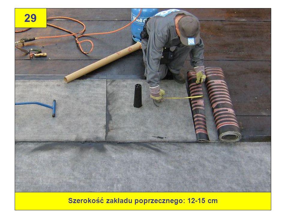 29 Szerokość zakładu poprzecznego: 12-15 cm