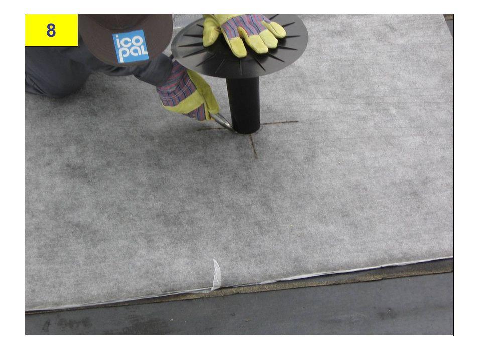 39 Przymiarka: Wycięcie otworu na kominek wentylacyjny