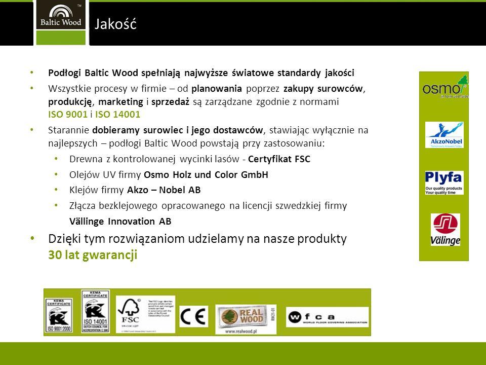Podłogi Baltic Wood spełniają najwyższe światowe standardy jakości Wszystkie procesy w firmie – od planowania poprzez zakupy surowców, produkcję, mark