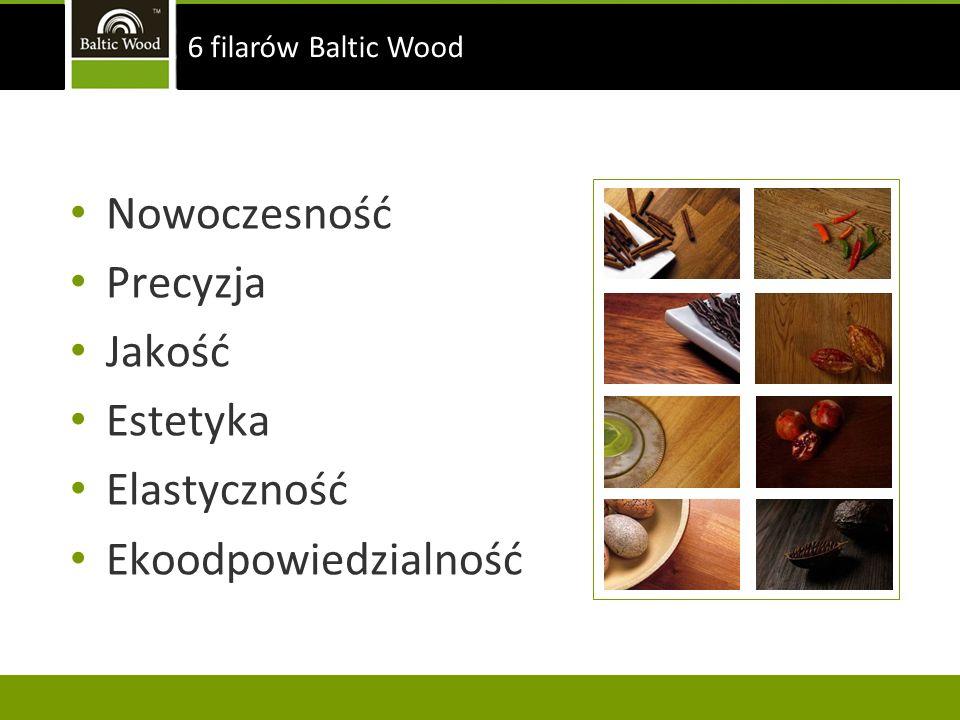 Nowoczesność Precyzja Jakość Estetyka Elastyczność Ekoodpowiedzialność 6 filarów Baltic Wood