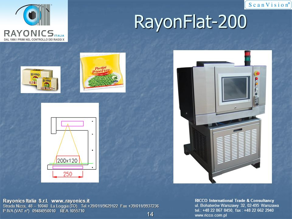 Kontrola kształtu Rayonics Italia S.r.l. www..rayonics.it Strada Nizza, 48 – 10040 La Loggia (TO). Tel.+39/011/9629122 Fax +39/011/9937236 P.IVA (VAT