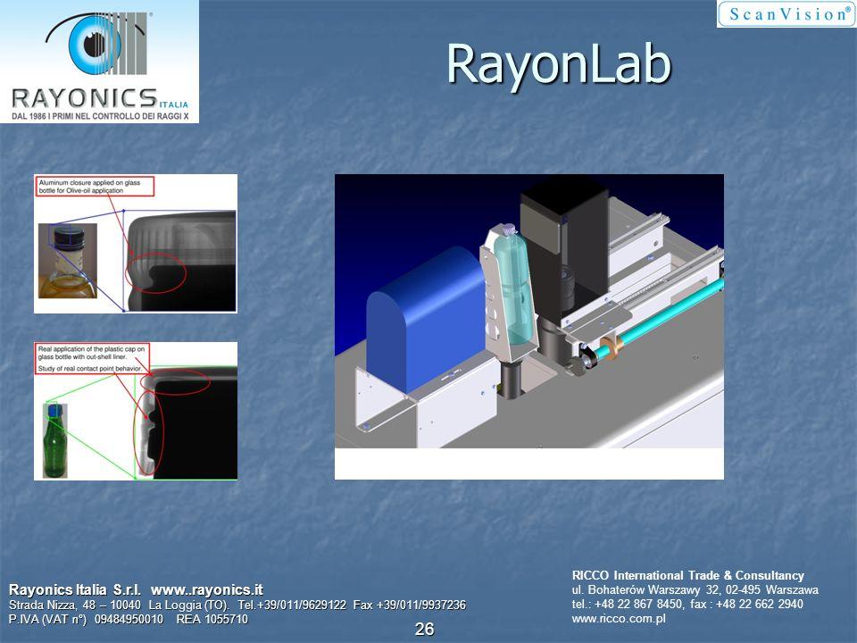 Efektywna kontrola zamknięcia wstępnie formowanego Rayonics Italia S.r.l. www..rayonics.it Strada Nizza, 48 – 10040 La Loggia (TO). Tel.+39/011/962912