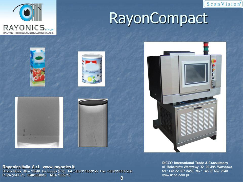 Kontrola poziomu napełnienia Rayonics Italia S.r.l. www..rayonics.it Strada Nizza, 48 – 10040 La Loggia (TO). Tel.+39/011/9629122 Fax +39/011/9937236