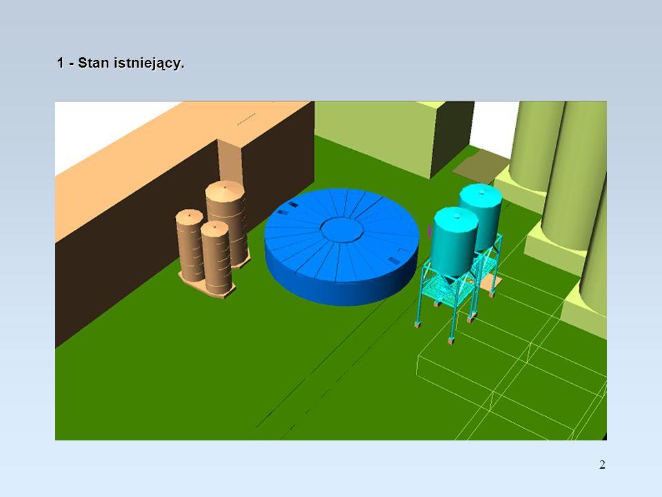 3 2 – Wykonanie nowych fundamentów dla zbiorników ługu i rozbiórka istniejących fundamentów.