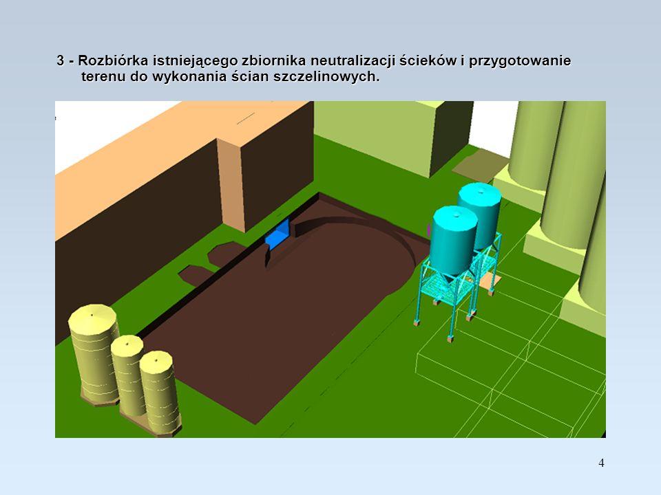 15 14 - Wykończenie budynku: posadzka, pomost roboczy prasy, stolarka, pokrycie dachowe.