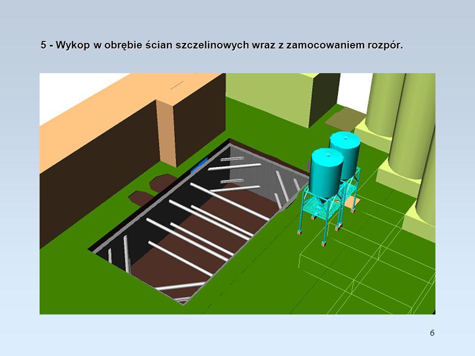 17 16 – Roboty wykończeniowe: drabiny, tace ociekowe, włazy, kopuła z laminatu, wyrównanie terenu pod płytę zewn.