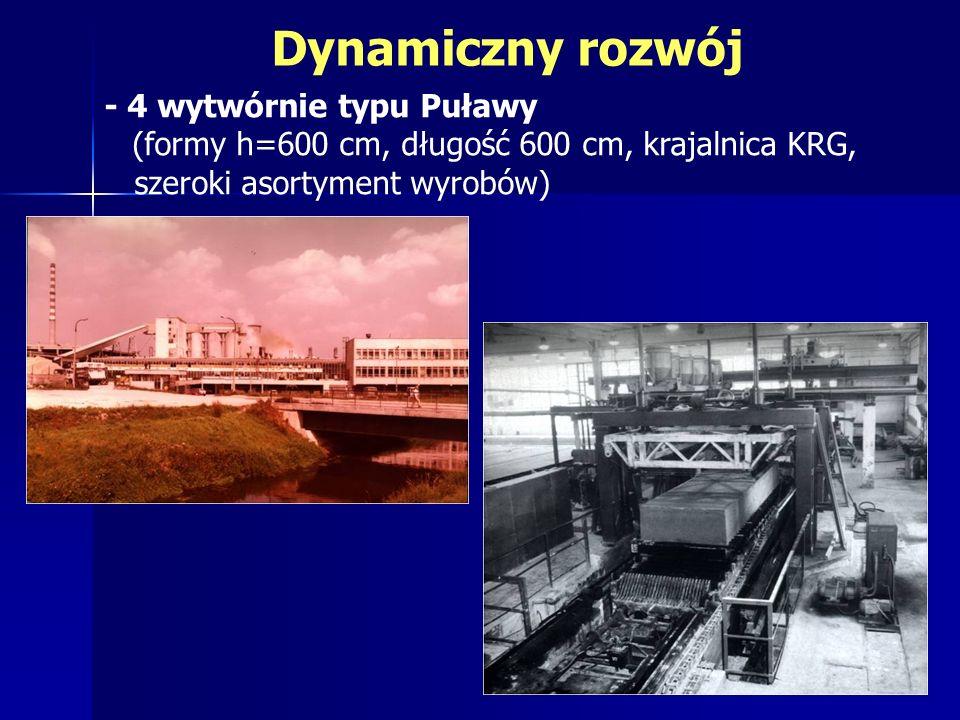 Dynamiczny rozwój - 4 wytwórnie typu Puławy (formy h=600 cm, długość 600 cm, krajalnica KRG, szeroki asortyment wyrobów)