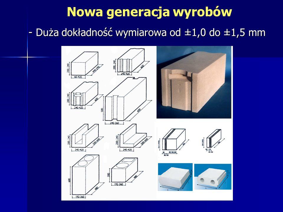- Duża dokładność wymiarowa od ±1,0 do ±1,5 mm