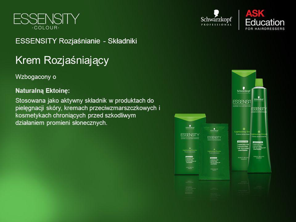 ESSENSITY Rozjaśnianie - Składniki Krem Rozjaśniający Wzbogacony o Naturalną Ektoinę: Stosowana jako aktywny składnik w produktach do pielęgnacji skór