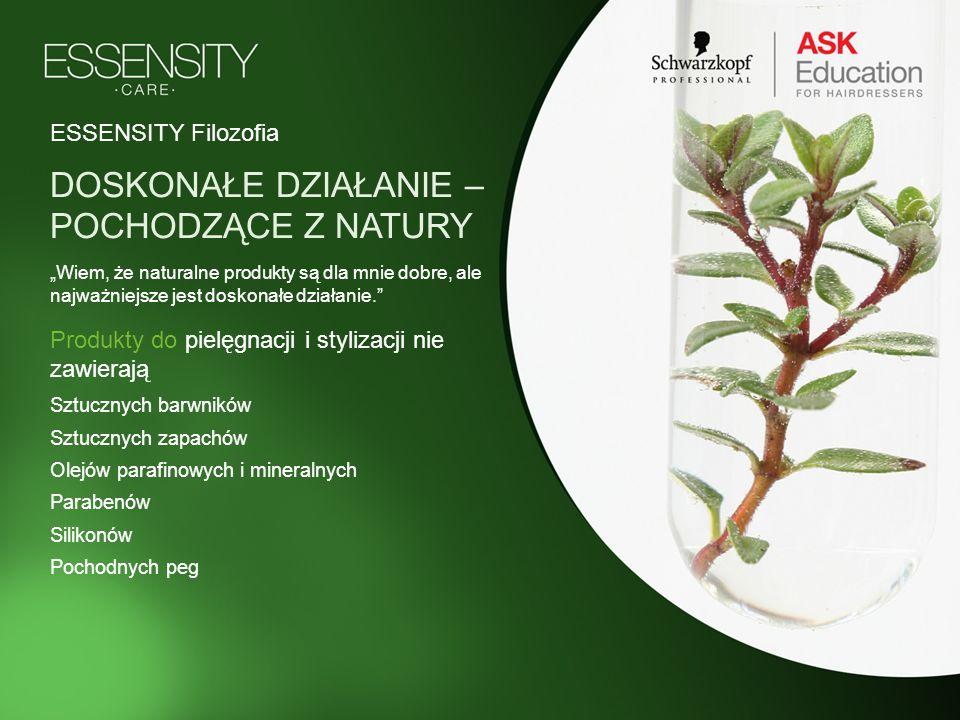 Produkty do pielęgnacji i stylizacji nie zawierają Sztucznych barwników Sztucznych zapachów Olejów parafinowych i mineralnych Parabenów Silikonów Poch