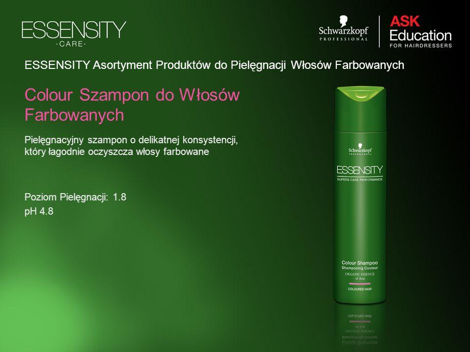 ESSENSITY Asortyment Produktów do Pielęgnacji Włosów Farbowanych Pielęgnacyjny szampon o delikatnej konsystencji, który łagodnie oczyszcza włosy farbo