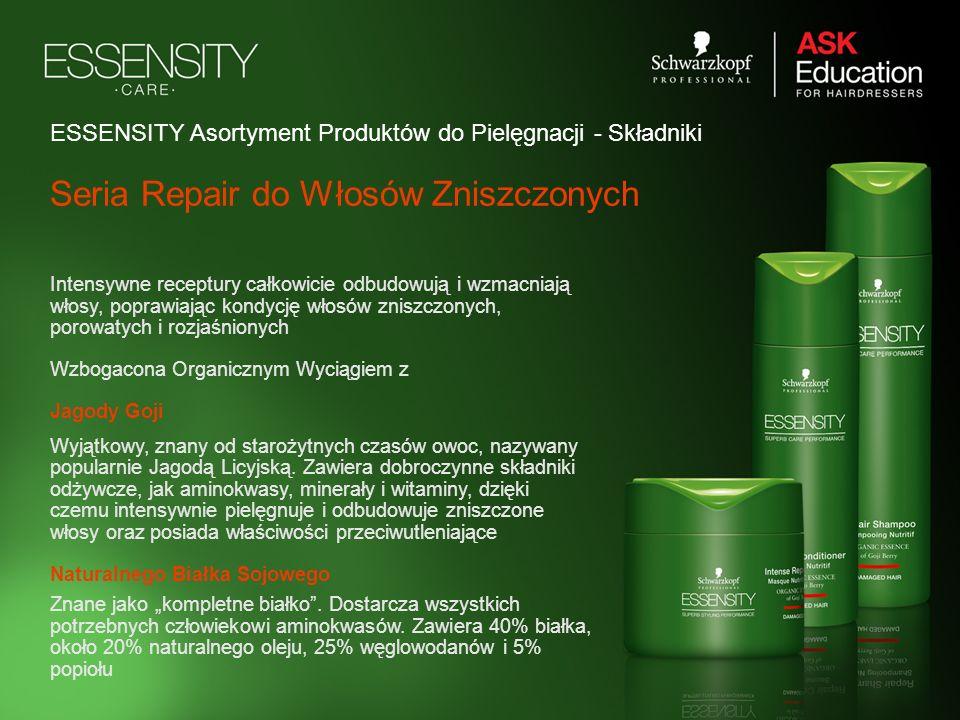 ESSENSITY Asortyment Produktów do Pielęgnacji - Składniki Intensywne receptury całkowicie odbudowują i wzmacniają włosy, poprawiając kondycję włosów z