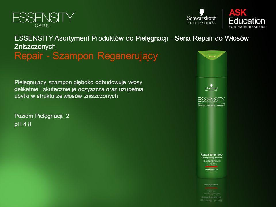 Repair - Szampon Regenerujący Pielęgnujący szampon głęboko odbudowuje włosy delikatnie i skutecznie je oczyszcza oraz uzupełnia ubytki w strukturze wł