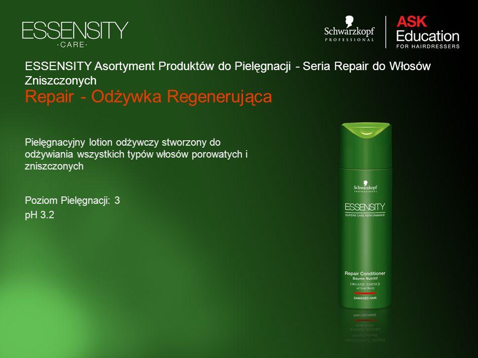 Repair - Odżywka Regenerująca Pielęgnacyjny lotion odżywczy stworzony do odżywiania wszystkich typów włosów porowatych i zniszczonych Poziom Pielęgnac