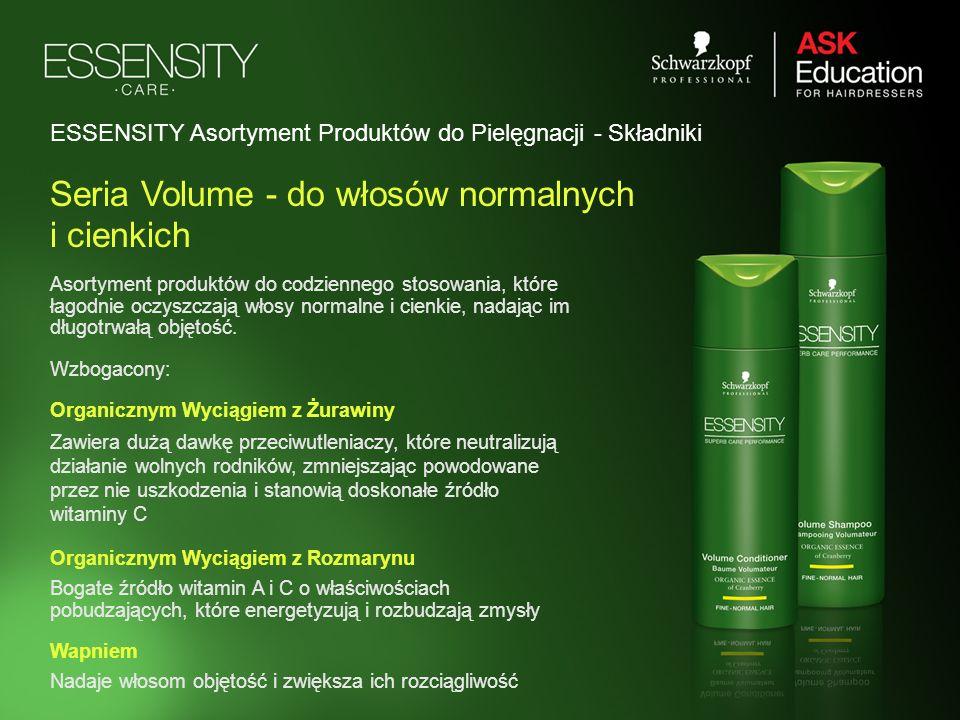 Asortyment produktów do codziennego stosowania, które łagodnie oczyszczają włosy normalne i cienkie, nadając im długotrwałą objętość. Wzbogacony: Orga