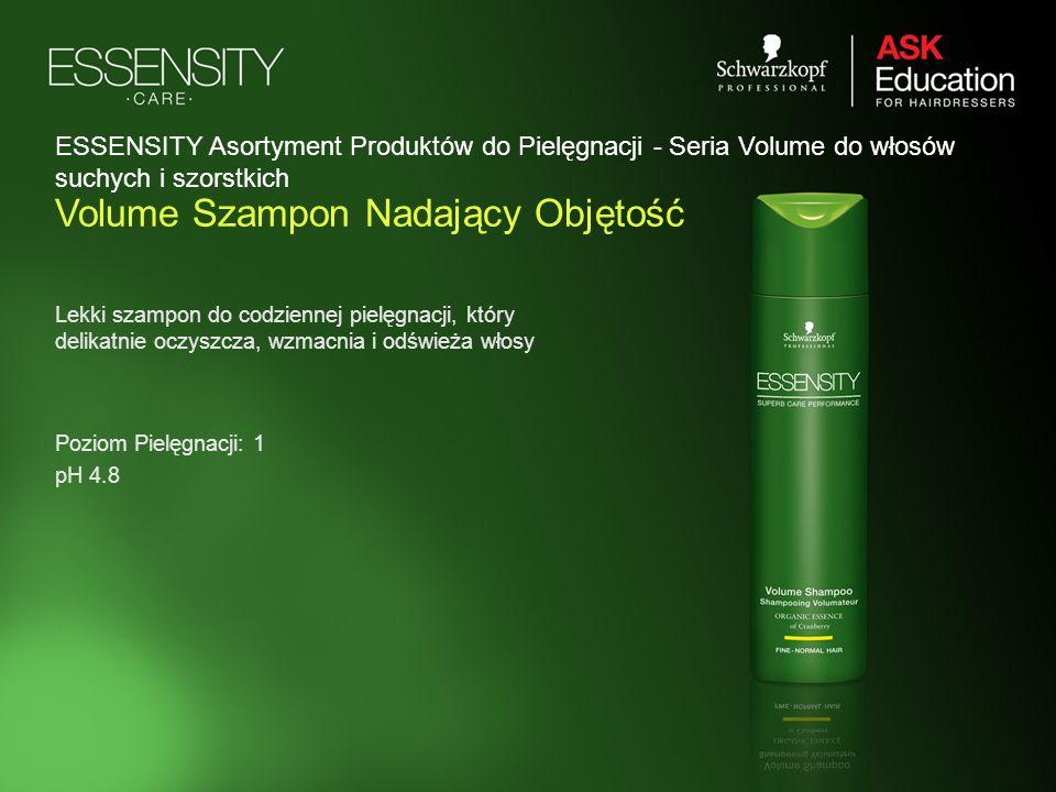 Volume Szampon Nadający Objętość Lekki szampon do codziennej pielęgnacji, który delikatnie oczyszcza, wzmacnia i odświeża włosy Poziom Pielęgnacji: 1