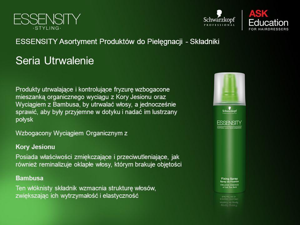 ESSENSITY Asortyment Produktów do Pielęgnacji - Składniki Seria Utrwalenie Produkty utrwalające i kontrolujące fryzurę wzbogacone mieszanką organiczne