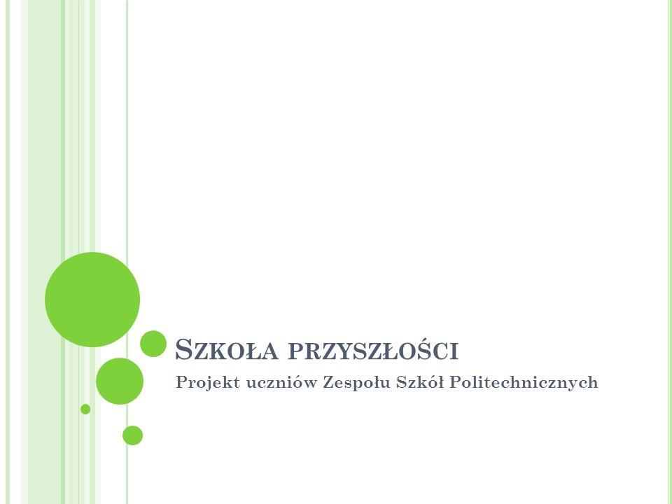 S ZKOŁA PRZYSZŁOŚCI Projekt uczniów Zespołu Szkół Politechnicznych