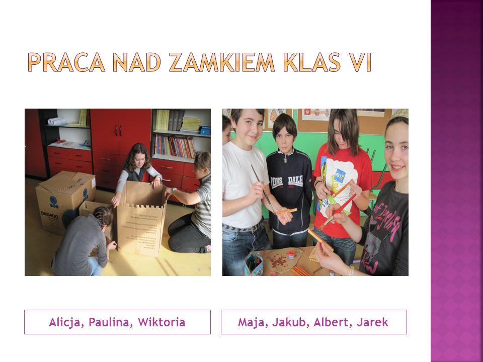 Alicja, Paulina, WiktoriaMaja, Jakub, Albert, Jarek