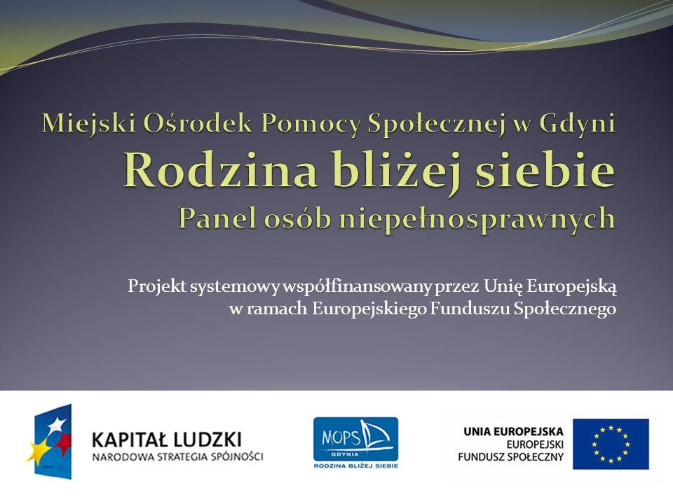 INDYWIDUALNE WSPARCIE OSÓB Z ZABURZENIAMI PSYCHICZNYMI KLUCZEM DO SKUTECZNEGO WSPÓŁDZIAŁANIA Miejski Ośrodek Pomocy Społecznej w Gdyni