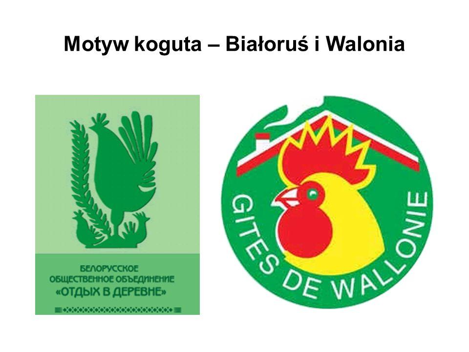 Motyw koguta – Białoruś i Walonia