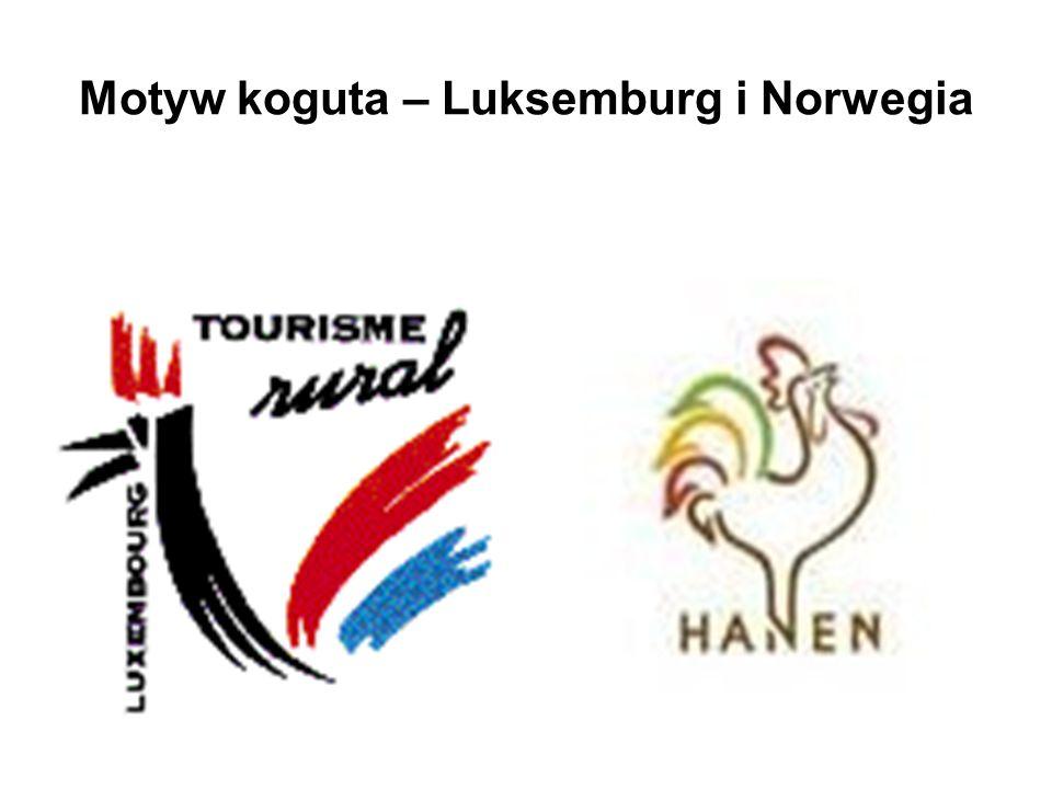 Motyw koguta – Luksemburg i Norwegia