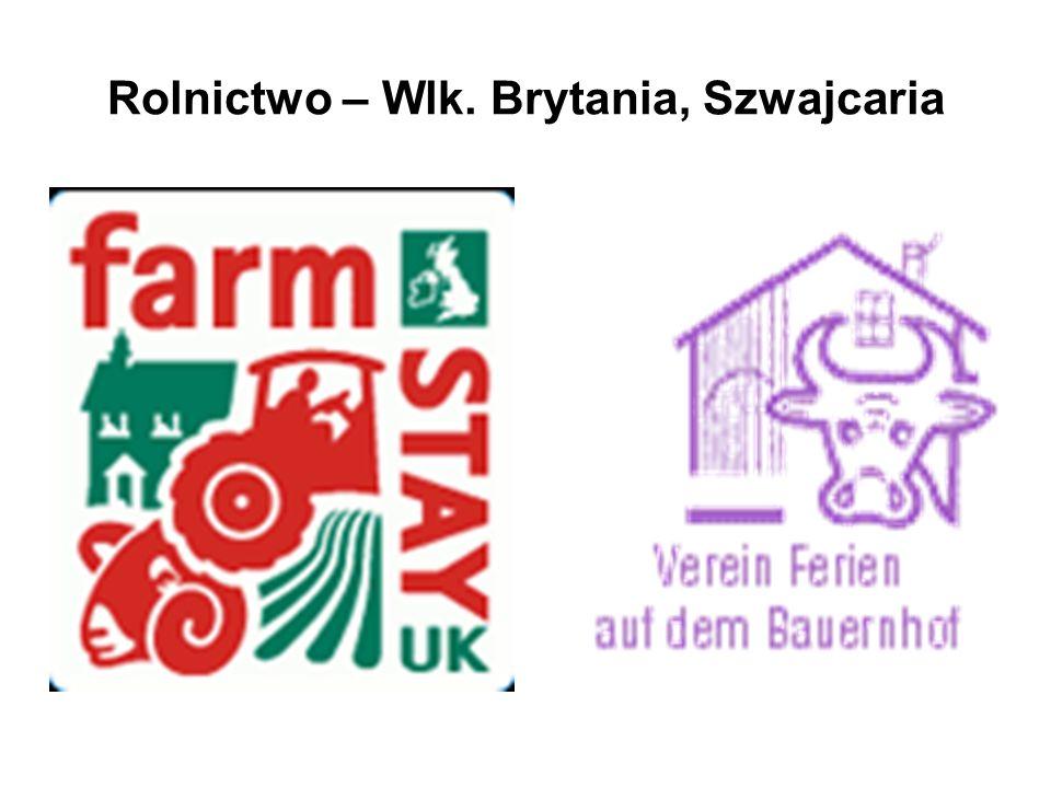 Rolnictwo – Wlk. Brytania, Szwajcaria