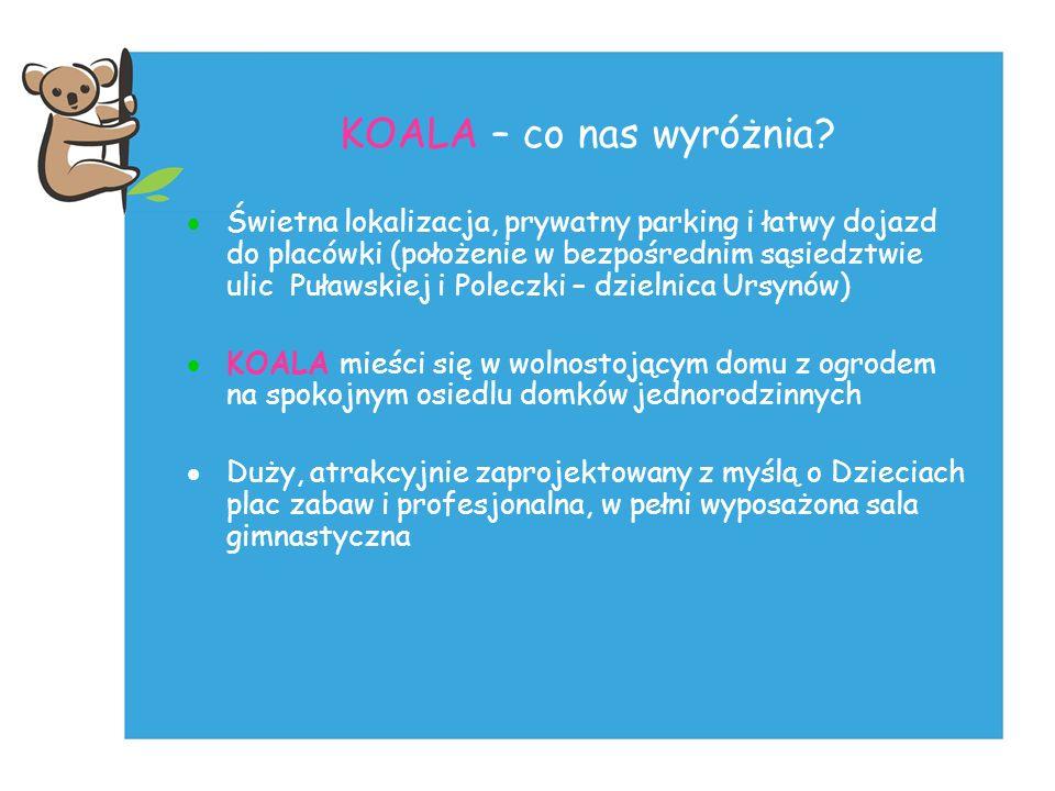 KOALA – co nas wyróżnia? Świetna lokalizacja, prywatny parking i łatwy dojazd do placówki (położenie w bezpośrednim sąsiedztwie ulic Puławskiej i Pole
