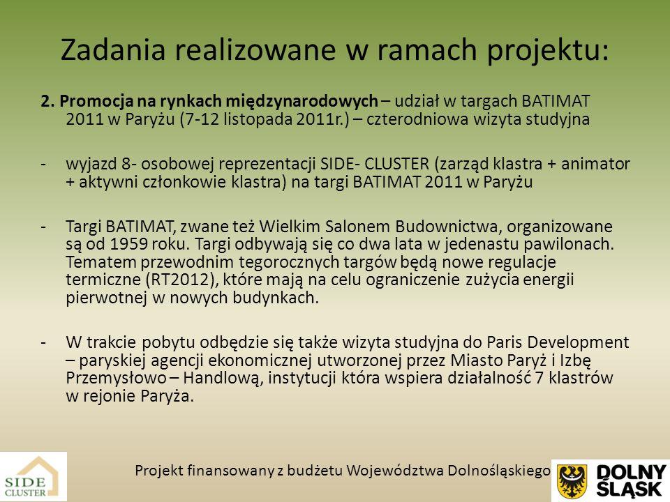 Zadania realizowane w ramach projektu: 3.Promocja klastra : -4 ogłoszenia w prasie regionalnej np.