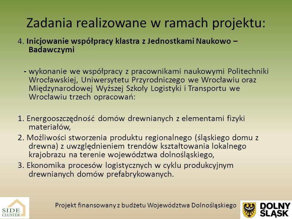 Zadania realizowane w ramach projektu: 4. Inicjowanie współpracy klastra z Jednostkami Naukowo – Badawczymi - wykonanie we współpracy z pracownikami n