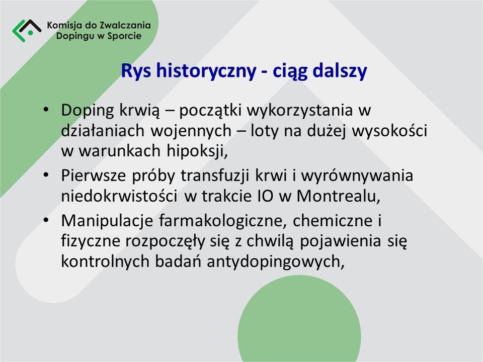 Rys historyczny - ciąg dalszy Pierwszy ujawniony przypadek stosowania dopingu anabolicznego sięga lat 60-tych, Historia stosowania preparatów hormonal