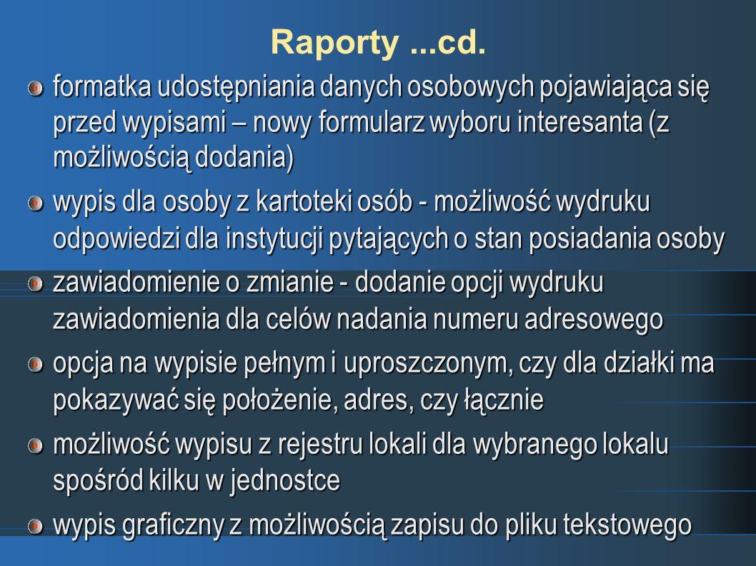 Raporty...cd.