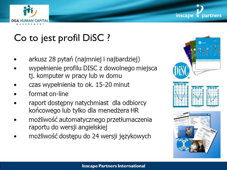 Inscape Partners International Co to jest profil DiSC ? arkusz 28 pytań (najmniej i najbardziej) wypełnienie profilu DISC z dowolnego miejsca tj. komp