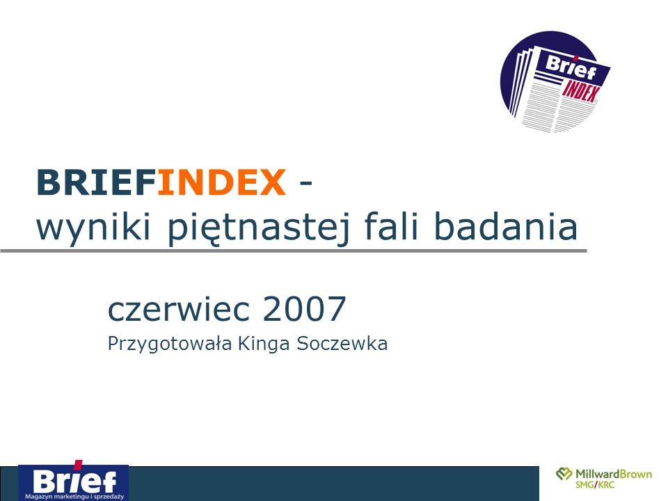 czerwiec 2007 Przygotowała Kinga Soczewka BRIEFINDEX - wyniki piętnastej fali badania