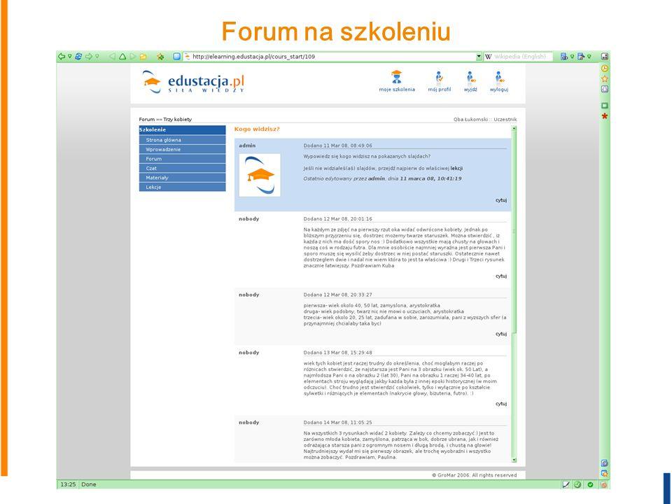 Forum na szkoleniu