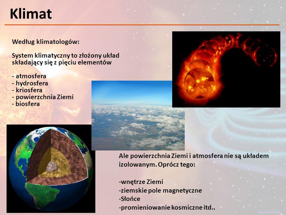 Bilans energetyczny Ziemia i atmosfera są w stanie równowagi określonej przez energię dostarczaną przez Słońce oraz emitowaną przez Ziemię w kosmos.